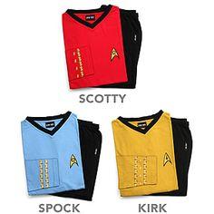 Officially Licensed Star Trek Pajama Set