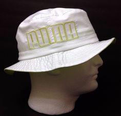 New$22 Nwt PUMA RELAXED-FIT MURRAY BUCKET HAT White&Light-Green Men/Women OSFM #PUMA #Bucket