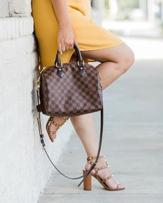 #Louis #Vuitton Damier Speedy Handbag. Best Street Style Have It To Complete Perfect.