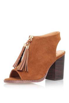 **Lohfarbene SAANA Sandaletten mit Keilabsatz von Miss KG