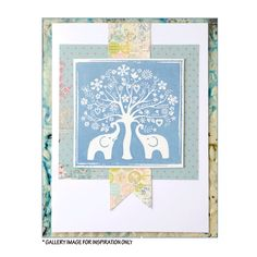 Crafty Individuals CI-321 - 'The Elephant Tree' Art Rubber Stamp, 85mm x 85mm - Crafty Individuals from Crafty Individuals UK