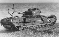 Abandoned Mk III Churchill on shingle beach at Dieppe Churchill, Canadian Army, Ww2 Pictures, Model Tanks, Armored Fighting Vehicle, Ww2 Tanks, D Day, Great Britain, World War Ii