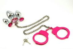 BDSM Hand Cuffs PINK Butt Cuffs Metal Butt Plug Anal Plug Toy Sex Toys bdsm Toys Restraints Bondage Toys Handcuffs Butt Plugs Princess Plug by SpankUToys on Etsy