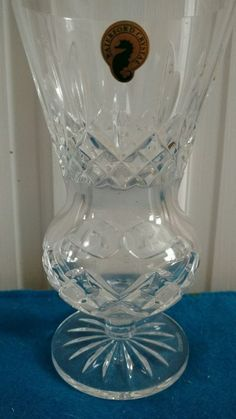 WATERFORD CRYSTAL GLASS  FLOWER VASE 6 1/4' TALL