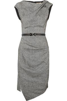 Michael Kors   Draped wool and silk-blend tweed dress   NET-A-PORTER.COM