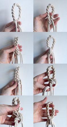 DIY macrame loop - hanging planter