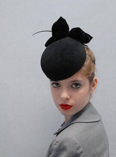 Failsworth Hats June Pillbox Hat Black