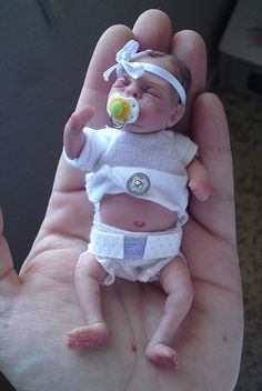 Ooak polymer clay baby girl #64 | Flickr - Photo Sharing!