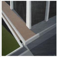 Paisagem Urbana I, 45X45cm, 2008, óleo sobre tela, Mauricio Volponi