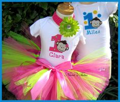 PERSONALIZED   Twin  1st  Birthday  His and Hers  by Nanastutus, $85.00