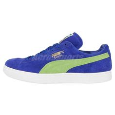 646796af154e Puma Suede Classic Blue Green White Mens Retro Shoes Sneakers Trainers  356568-58 in Clothing