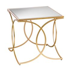 Gold End Table, Mirrored End Table, End Tables, Living Room Essentials, Living Room Sets, Living Room Furniture, Beveled Mirror, Glass, Reading Table