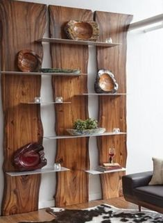 Wall Shelf Made of Suarina Root Wood / Natural Finish / Aluminum Shelves - Rega. - Wall Shelf Made of Suarina Root Wood / Natural Finish / Aluminum Shelves – Regal Holzbohlen – - Home Decor Furniture, Furniture Plans, Rustic Furniture, Diy Home Decor, Furniture Design, Room Decor, Natural Wood Furniture, Handmade Wood Furniture, Furniture Makeover