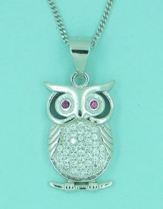 Owl Necklace, Sterling Silver
