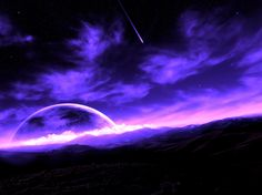 Purple Colorful Desktops | Purple Starlit night fond écran wallpaper