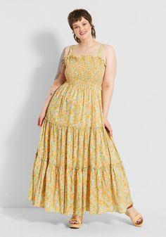 maxi engagement dress yellow - engagement outfits White Flowy Dress, White Maxi Dresses, Yellow Dress, Summer Dresses, Engagement Dresses, Engagement Photo Outfits, Engagement Photos, Floor Length Dresses, Boho Dress