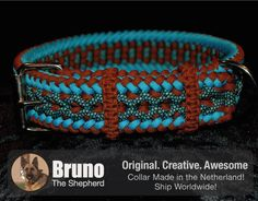 This LIMITED EDITION Paracord Dog Collar is only and exclusively available at http://www.brunotheshepherd.com/   #Paraknotter