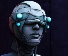 Random sci-fi helmet by petenceDS on DeviantArt