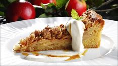 Apple pie with crumble top