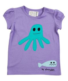 Loving this Purple Cap-Sleeve Tee - Infant, Toddler & Girls on #zulily! #zulilyfinds