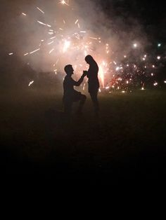 He popped the question while they were popping fireworks! It was the perfect summer proposal for Fourth of July.