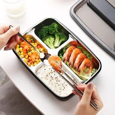 Japanese Style Stainless Steel Insulated Bento Lunch Box & Food Container For Adults & Kids Bento Recipes, Lunch Box Recipes, Lunch Ideas, Bento Box Lunch For Adults, Lunch Boxes, Sweet Rice Flour Recipe, Japanese School Lunch, Healthy Japanese Recipes, Thermal Lunch Box