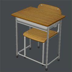 学校の机と椅子のセット