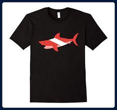 Mens Shark Diving Diver Down Flag Tee Medium Black - Cities countries flags shirts (*Amazon Partner-Link)
