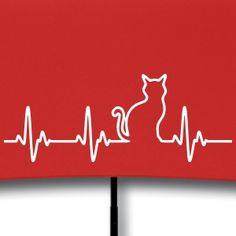 Herzschlag Katze - Regenschirm (klein)