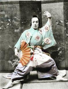 Kabuki actor, 1901, Japan MYTHODEA