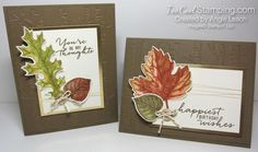 Vintage Leaves watercolor - two cool