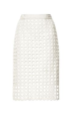 Shop Cotton Eyelet Skirt in White by Sea Now Available on Moda Operandi