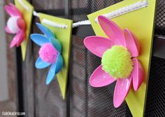 Pretty Plastic Spoon Flower Garland | AllFreeKidsCrafts.com