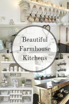 When you dream of the perfect kitchen, what does it look like? Are the dishes white? Is coffee brewing? Does everything have a label? Is there a touch of greenery somewhere? If so, you won't want to miss these beautiful farmhouse kitchens we've gathered up.