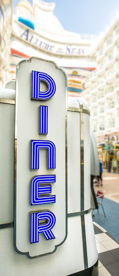 Order up! Travel through time to a 1950's American diner at the Johnny Rockets onboard Allure of the Seas. Hamburgers and milkshakes, red vinyl seats, and retro tunes will transport you to a bygone era.