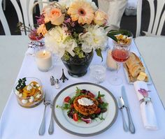 I like the glass bowls for salad. -J || At Diner en Blanc Niagara on the Lake