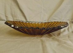 Sowerby Glass Dark Amber Console Bowl