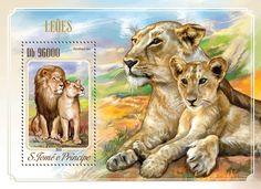 Post stamp São Tomé and Príncipe ST 14511 bLions (Panthera leo)