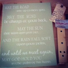 Irish Blessings Holiday Gift for the home Irish by redbarncanvas