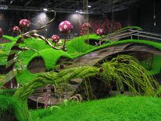 Bruce Gordon's picture of the film Charlie and The Chocolate Factory set he worked on