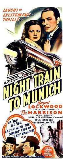 NIGHT TRAIN TO MUNICH MOVIE POSTER Rare Hot Vintage