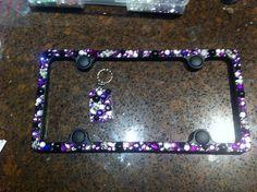 bling rhinestone sparkle license plate frame 3500 via etsy