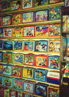 Lunchbox Wall -   wow I can remember seeing almost ALL of these in my elementary school days! lol