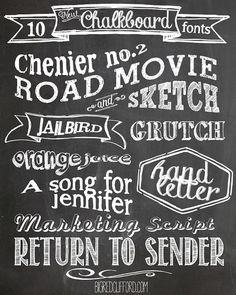 big red clifford: free chalkboard fonts & free printables Lauren B Montana Typography Fonts, Typography Design, Cursive Fonts, Handwriting Fonts, Web Design, Graphic Design, Type Design, Vector Design, Design Trends