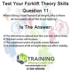 Forklift question of the day 11 from http://ift.tt/1HvuLik #forklift #training #safety #jobsearch