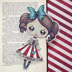 Doll Romantic Carnival bookmark by ribonitachocolat on Etsy