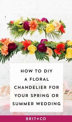 You need this DIY chandelier at your summer wedding.