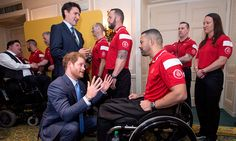 May 2 2016, Prince Harry and Justin Trudeau had the pleasure of meeting with members of Canada's Invictus Games team prior to the official launch ceremony at the Royal York Hotel.