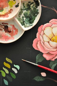 In The Studio of Eva Juliet | Pretty Paintings and Illustrations from Mon Carnet Blog - Heart Handmade uk