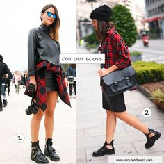 Como Usar as Cut Out Boots - Looks Grunge - Outono/Inverno 2014  http://viroutendencia.com/2014/03/19/sapatos-do-outonoinverno-2014-cut-out-boots/